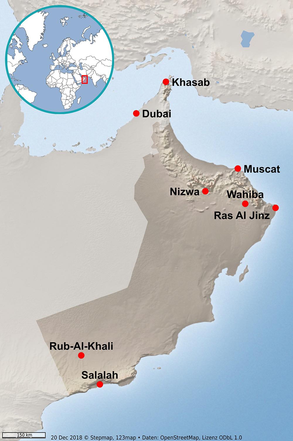 Karte Oman.Oman Karte Beckmannonline De